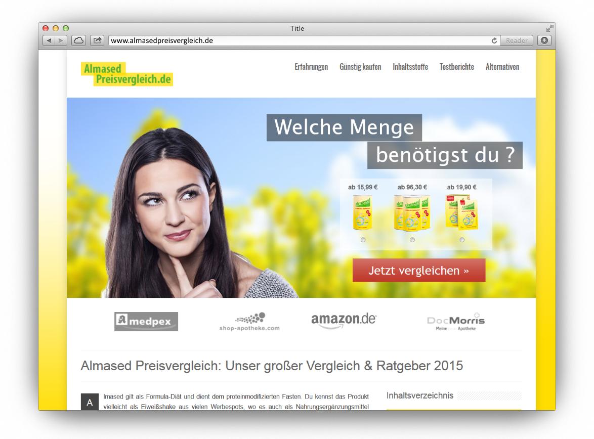 Affiliate-Seite: almasedpreisvergleich.de