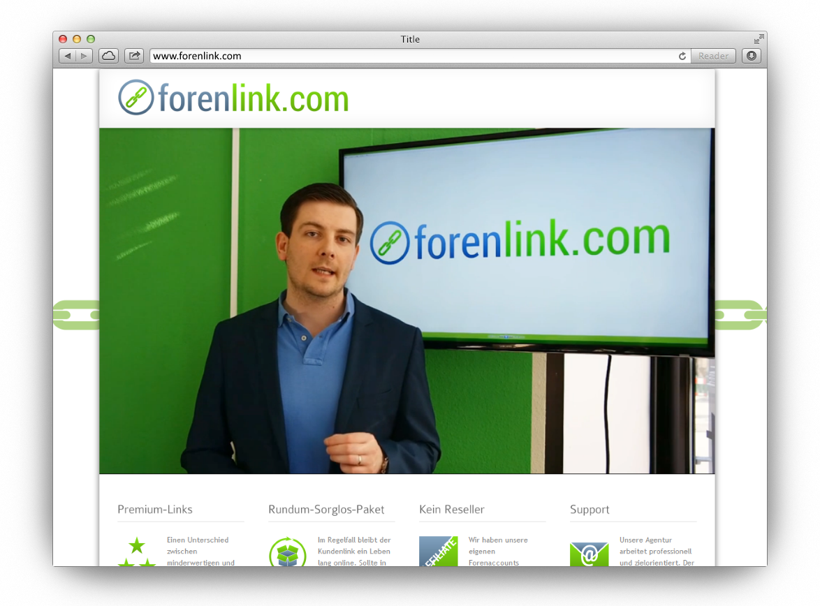 Dienstleistung: Forenlink.com