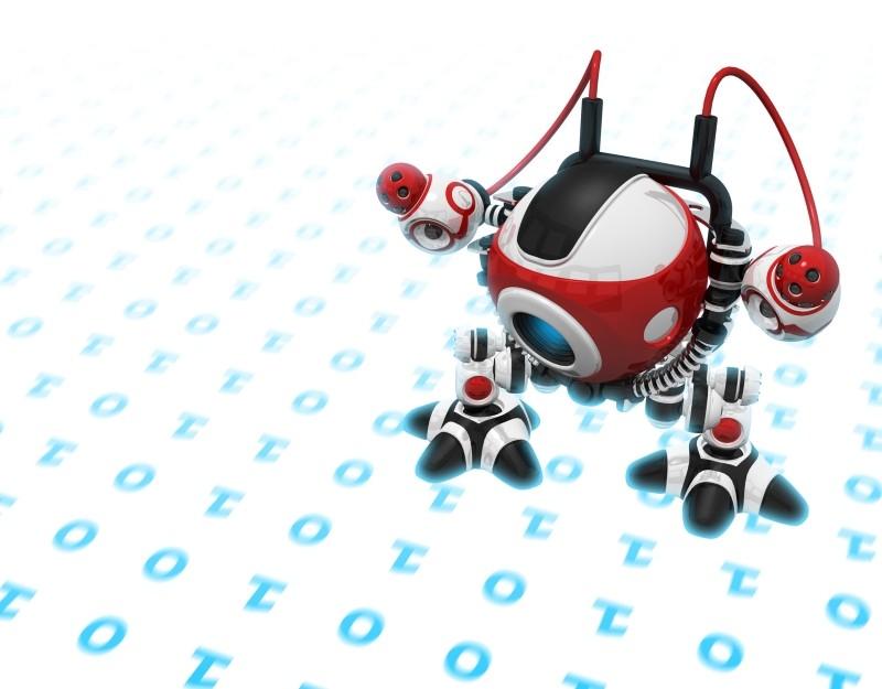 Bild eines Roboters, der Ziffern aufnimmt.