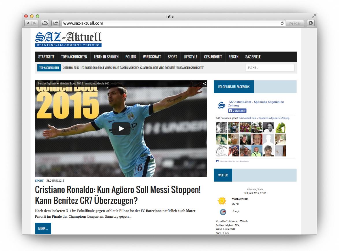 Newsportal: SAZ-AKTUELL.COM