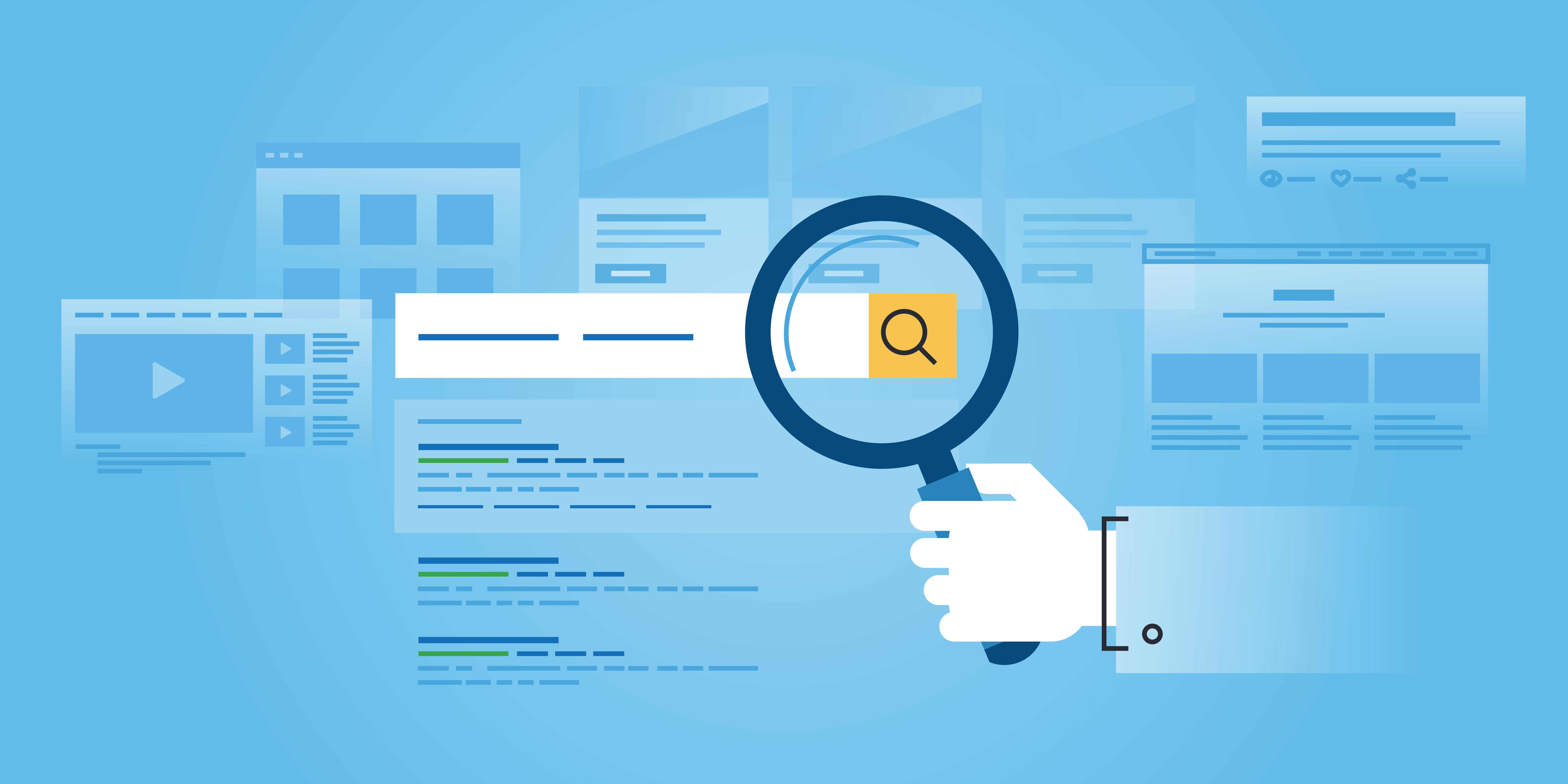 Grafik zur Suchmaschine