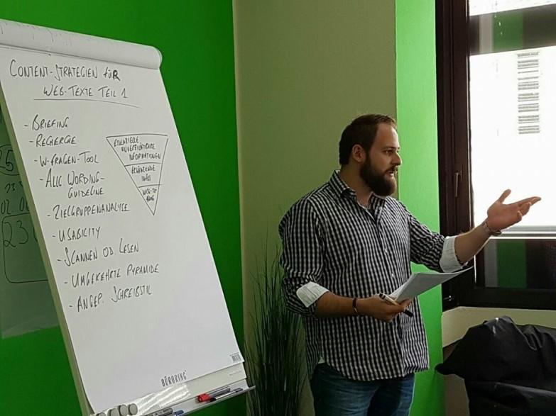 Content Strategien Vortrag bei Seoplus expert